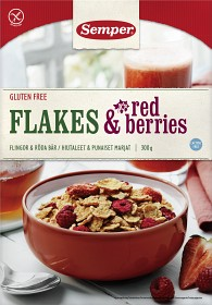 Bild på Semper Flakes & Red Berries 300 g