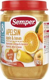 Bild på Semper Fruktpuré Apelsin Äpple & Banan 8M 190 g