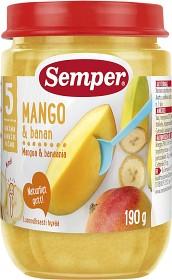 Bild på Semper Fruktpuré Mango & Banan 5M 190 g