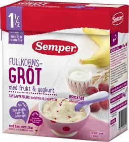 Bild på Semper Fullkornsgröt med Frukt & Yoghurt 18M 470 g