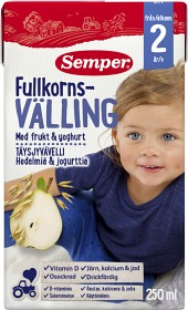 Bild på Semper Fullkornsvälling med Frukt & Yoghurt Drickfärdig 24M 250 ml
