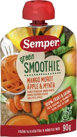 Bild på Semper Green Smoothie Mango Morot Äpple & Mynta 6M 90 g
