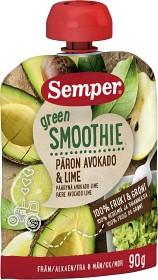 Bild på Semper Green Smoothie Päron Avokado & Lime 6M 90 g