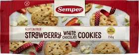 Bild på Semper Strawberry White Chocolate Cookies 150 g