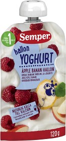 Bild på Semper Yoghurt Äpple Banan Hallon 12M 120 g