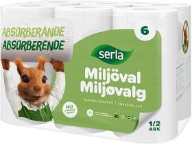 Bild på Serla Hushållspapper Classic Miljöval 6 p