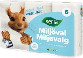 Bild på Serla Toalettpapper Classic Miljöval 6 p