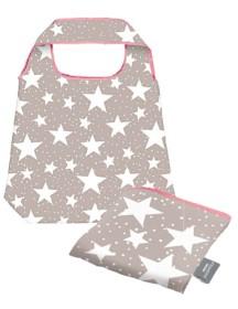 Bild på Shoppingbag Stjärnor beige