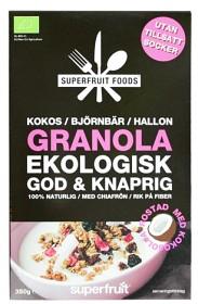 Bild på Superfruit Foods Granola Kokos Björnbär Hallon 350 g