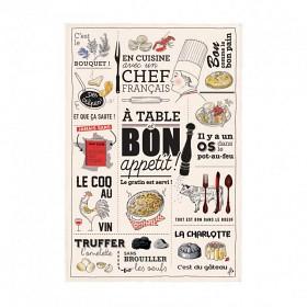 Bild på T & B Maison Kökshandduk Cuisine Francaise 1 p