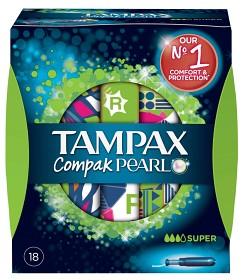 Bild på Tampax Compak Pearl Super 18 st