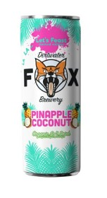 "Bild på The Dirtwater Fox Pinapple Coconut ""Lets Feast"" Slim Can 25 cl"