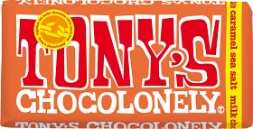 Bild på Tony's Chocolonely Milk Chocolate Caramel Sea Salt 180 g