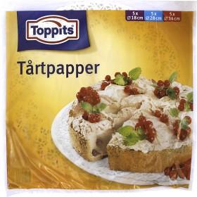 Bild på Toppits Tårtpapper Blandade Storlekar 15 p