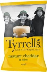 Bild på Tyrrells Chips Mature Cheddar & Chive 150 g