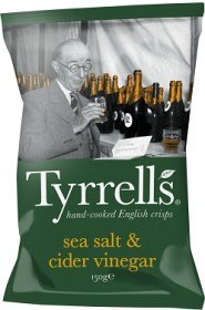 Bild på Tyrrells Chips Sea Salt & Cider Vinegar 150 g