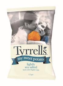 Bild på Tyrrells Sötpotatischips Lightly Sea Salted 125 g