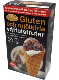 Bild på Våffelbagaren Glutenfria Våffelstrutar 10 st