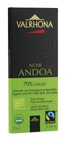 Bild på Valrhona Chokladkaka Andoa Mörk 70% 70 g