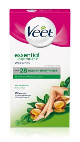 Bild på Veet Essential Wax Strips för ben 20 st