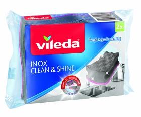 Bild på Vileda Active Scrub Inox Clean & Protect 2 st