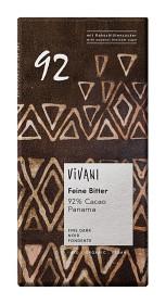 Bild på Vivani Panama Mörk Choklad 92% 80 g