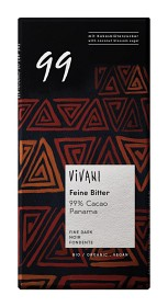 Bild på Vivani Panama Mörk Choklad 99% 80 g