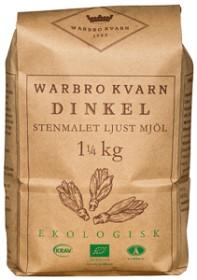 Bild på Warbro Kvarn Dinkel Stenmalet Ljust Mjöl 1,25 kg