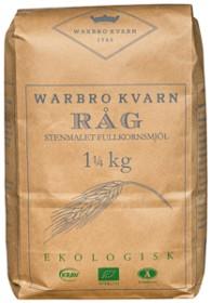 Bild på Warbro Kvarn Råg Stenmalet Fullkornsmjöl 1,25 kg