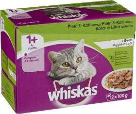 Bild på Whiskas 1+ Fisk/Kött i Gelé 12-pack