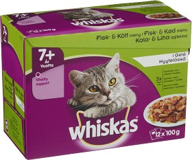 Bild på Whiskas 7+ Fisk/Kött i Gelé 12-pack