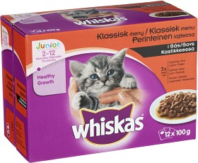 Bild på Whiskas Junior Klassisk Meny i Sås 12-pack