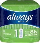 Always Ultra Normal 16 st oparfymerad