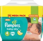 Pampers Baby-Dry S4 8-16 kg 86 st