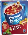 Blå Band Varma Koppen Crunchy Tomat och Basilikasoppa med Krutonger 70 g / 3 Portioner