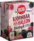 BOB Lättdryck Björnbär & Hallon 2 dl