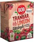 BOB Lättdryck Tranbär & Lingon 2 dl