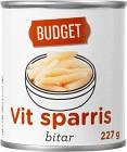 Budget Vit Sparris Bitar 227 g