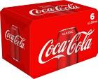 Coca-Cola Classic Burk 6x33 cl inkl. pant