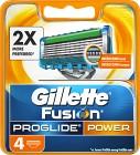 Gillette Fusion ProGlide Power rakblad 4 st