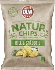 OLW Naturchips Dill & Gräddfil 180 g