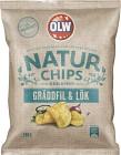 OLW Naturchips Gräddfil & Lök 180 g