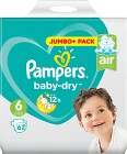 Pampers Baby-Dry S6 13-18kg 62 st