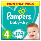 Pampers Baby-Dry Size 4 månadsbox