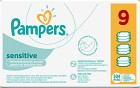 Pampers Sensitive Våtservetter 9x56 st månadsbox