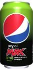 Pepsi Max Lime Burk 33 cl inkl. pant