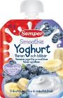 Semper Smoothie Yoghurt Banan och Blåbär 6M 90 g