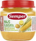 Semper Puré Majs & Potatis 4M 125 g