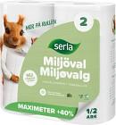 Serla Hushållspapper Maximeter Miljöval 2 p
