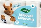 Serla Toalettpapper Classic Miljöval 6 p